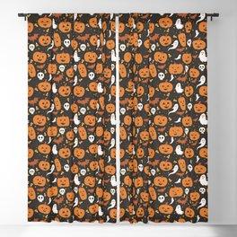 Pumpkin Party - Black Blackout Curtain