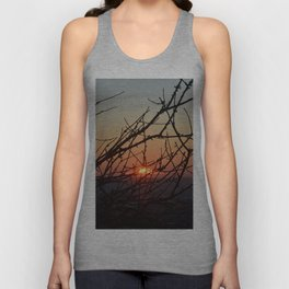 Branches in sunset Unisex Tank Top