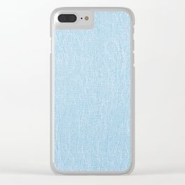 Blue cotton textured cloth pattern Clear iPhone Case