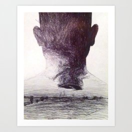 The man who was a storm cloud Art Print