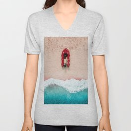 Surf Rescue | Aerial Photography  Unisex V-Neck