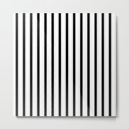 Black and white vertical stripes Metal Print