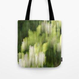 Green Hue Realm Tote Bag