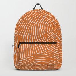 Orange minimal line art Backpack