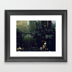 Manhattan Fall Framed Art Print