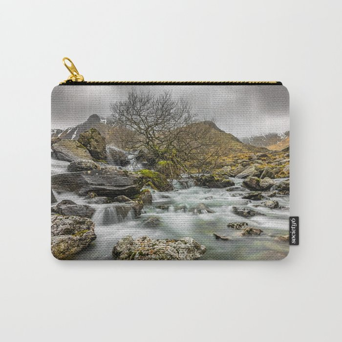Lone Tree On The River Carry-All Pouch