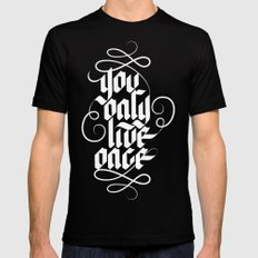 YOU ONLY LIVE ONCE LARGE Mens Fitted Tee Black