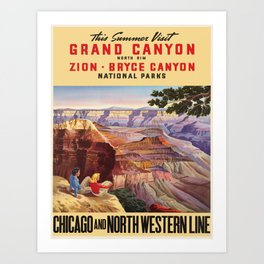 Vintage poster - Grand Canyon Art Print