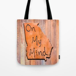 Georgia On My Mind Typographical Map Art Tote Bag