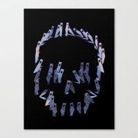 123. Blade Skull Canvas Print