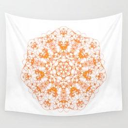 Magic Seven Mandala eden spirit orange Wall Tapestry