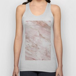 Pink marble - rose gold accents Unisex Tank Top