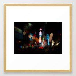 New York Lights at Night Framed Art Print