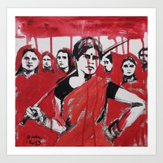 Strong, Bloody India womans Art Print