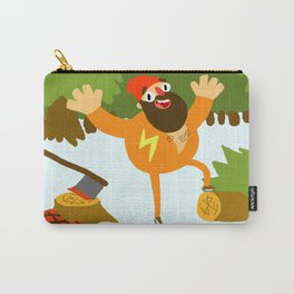 Ice-Skating Lumberjack Carry-All Pouch