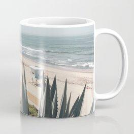 Carlsbad Beach with Pelicans Coffee Mug