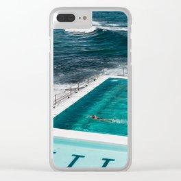 Bondi Icebergs Club I art print Clear iPhone Case