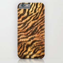 Bengal Tiger Fur Wildlife Print Pattern iPhone Case