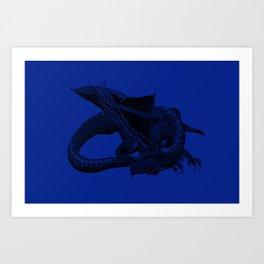 Big Blue. Art Print