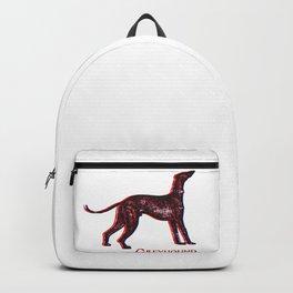 Greyhound Dog | Animal Art Design Backpack