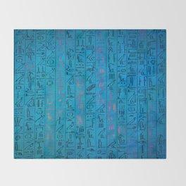 Ancient egyptian blu Throw Blanket