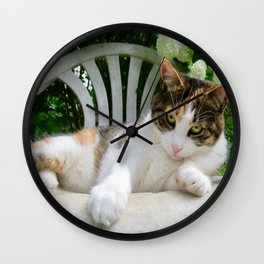 Antigone charming kitty Wall Clock