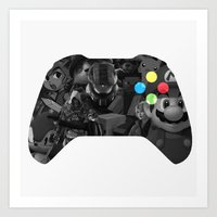 video game Art Prints featuring Video Game by Thomas Official