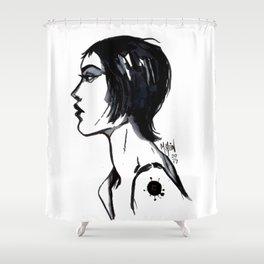 Profile Study Shower Curtain