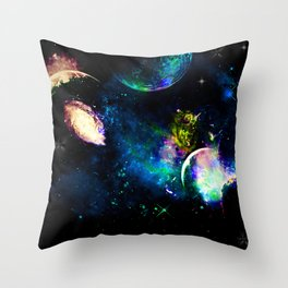 Planet Aura Throw Pillow