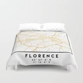 FLORENCE ITALY CITY STREET MAP ART Duvet Cover