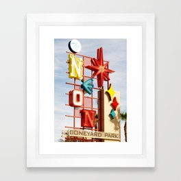 Neon Boneyard Framed Art Print