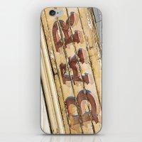bar iPhone & iPod Skins featuring Bar by Chantal Seigneurgens