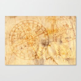 horoscope signs Canvas Print