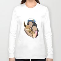 eevee Long Sleeve T-shirts featuring Trainer And Eevee by Little Kitty