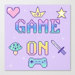 Game On (pastel) Canvas Print