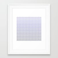gradient Framed Art Prints featuring Gradient  by Shelby Thompson