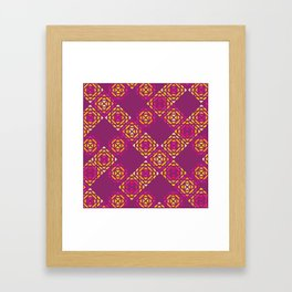 Fuchsia Squares Pattern Framed Art Print