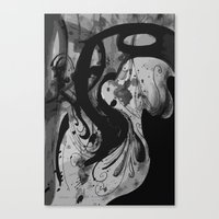 reassurance Canvas Prints featuring Ink by Magdalena Hristova