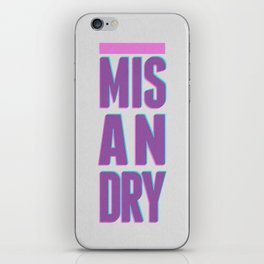 Misandry iPhone Skin