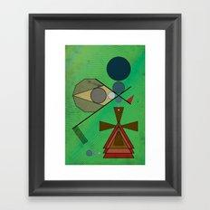 Crazy Golf Abstract Putting Framed Art Print