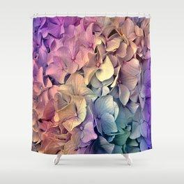 Soft Multi Color Hydrangea Shower Curtain