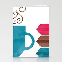 macarons Stationery Cards featuring Macarons  by Daniela Marti