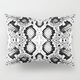 Snake skin texture. black white simple ornament Pillow Sham
