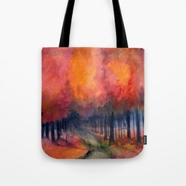 Nighttime Autumn Landscape Nature Art Tote Bag