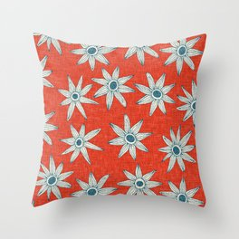 sema fire orange blue Throw Pillow