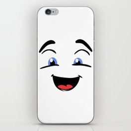 Emoji happy face iPhone Skin