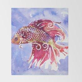 Fish Swirl Throw Blanket