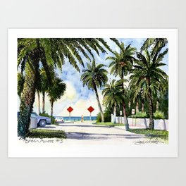 Beach Access 3, Siesta Key Art Print