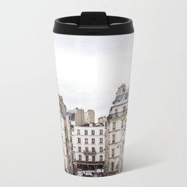 Montmartre View of Paris  Metal Travel Mug