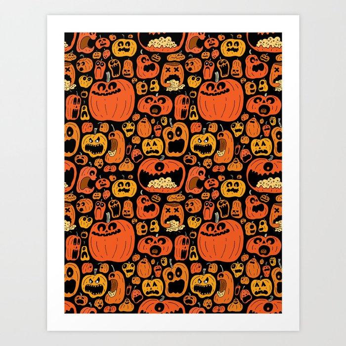 Pumpkin Pattern Art Print